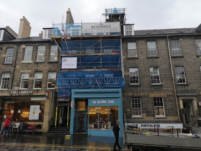 Direct Scaffolding Limited, Scaffolding erected in Edinburgh City Centre Business