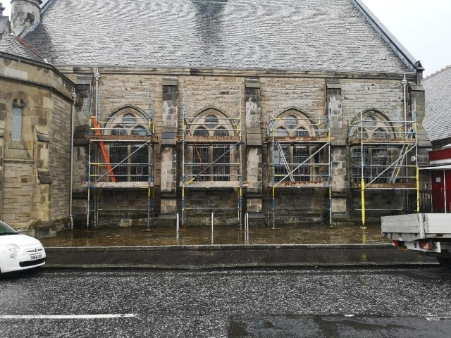 Direct Scaffolding Limited, Scaffolding erected on Church