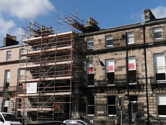 Direct Scaffolding Limited, Scaffolding erected in Edinburgh City Centre